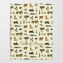 South of France pattern Poster