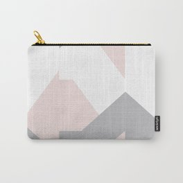 Geometric pattern pink and purple Carry-All Pouch