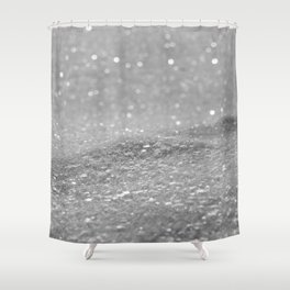 Glitter Silver Shower Curtain