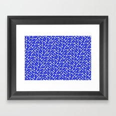 Control Your Game - White on Blue Framed Art Print