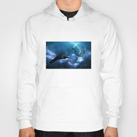 ships Hoodies featuring Ships in Space by spacemonkey89