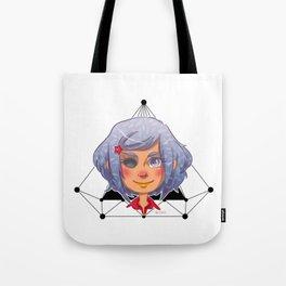 Lady Purple Tote Bag