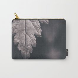 Black and White Forest Leaf Carry-All Pouch