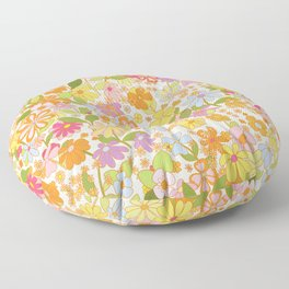 Nostalgia in the garden Floor Pillow