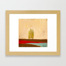 Three Trees Framed Art Print