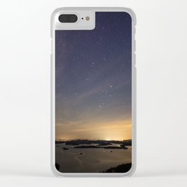 Starry City of Lights Clear iPhone Case