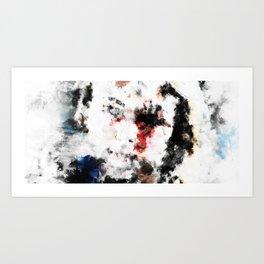 Abstract Face 00 Art Print
