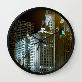 Chitown Nights Wall Clock