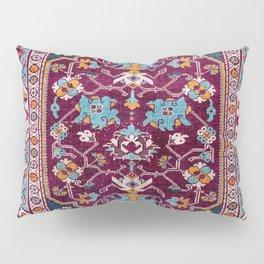 Romanian  Antique  Double Niche Carpet Pillow Sham