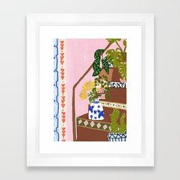 Bohemian stairs Framed Art Print