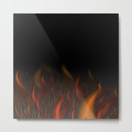 We Are All Burning Metal Print