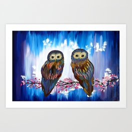 Looking in the Same Direction Art Print