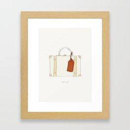 Just Go - Travel Adventure Suitcase Framed Art Print