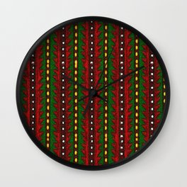 Laberinto Navideño Wall Clock