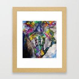 My lover's hand Framed Art Print
