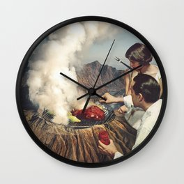 On A Good Day - Volcano BBQ Wall Clock