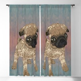 Pug Puppy Blackout Curtain