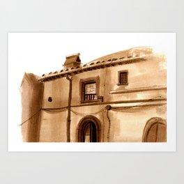 Viterbo Windows - 4 Art Print