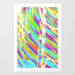 Light Dance Candy Ribs edit1 Art Print