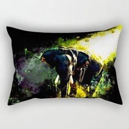 elephant jungle sunray ws std Rectangular Pillow
