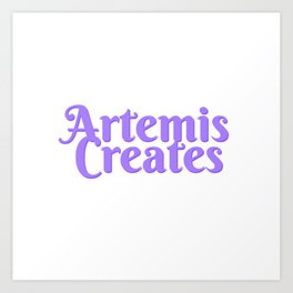 Artemis Creates Main Logo Art Print