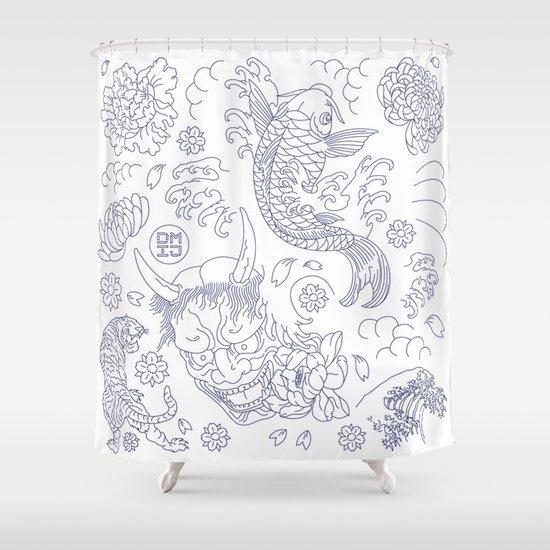 Japanese Tattoo Shower Curtain
