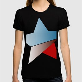Ombre red white and blue star T-shirt