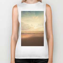 Golden Hour on the Beach (Color) Biker Tank