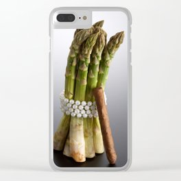 Asparagus Clear iPhone Case