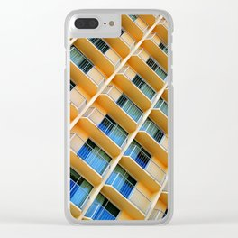 Scratchy Hotel Facade Clear iPhone Case