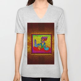 LOVE IN THE TIME OF ELEVATORS-2 Unisex V-Neck