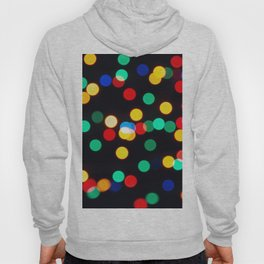 Bokeh Lights On a Black Background Hoody