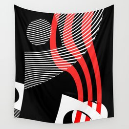 Black and white meets red Version 30 Wall Tapestry