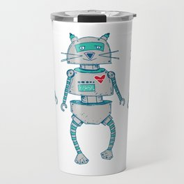 The Cat-Bot Trio Travel Mug