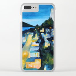 Coit Tower San Francisco at Night Clear iPhone Case
