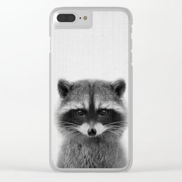 raccoon headshot Clear iPhone Case