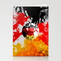 germany Stationery Cards featuring  football germany by seb mcnulty
