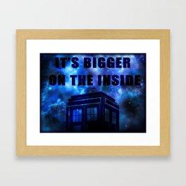 It's Bigger On The Inside Framed Art Print