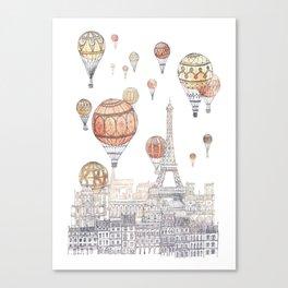 Voyages Over Paris ~ Refresh Canvas Print