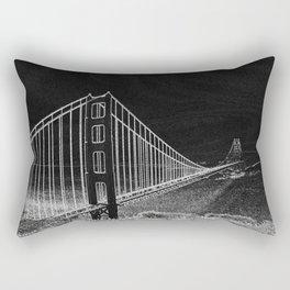 Golden Gate Abstract Rectangular Pillow