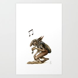 Troll Sack Art Print