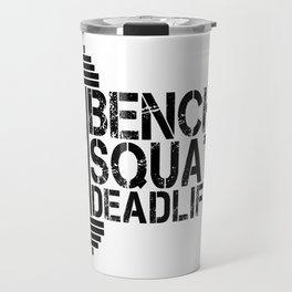 1000 Pounds Bench Squat Deadlift Powerlift Club Fitness Bodybuilder Bodybuilding Travel Mug