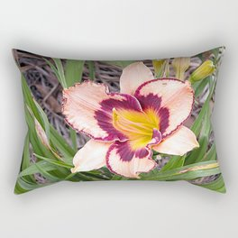 Pink daylily growing in Queensland Rectangular Pillow