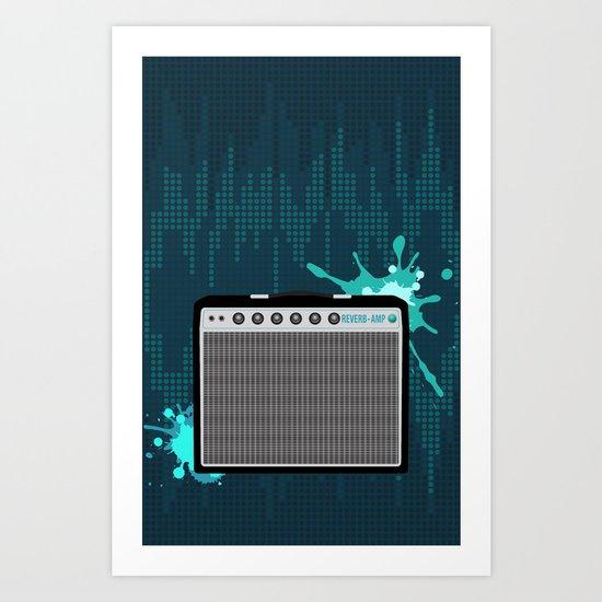 Reverb Electric Amplifier Art Print