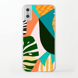 Tropical pattern IV Clear iPhone Case