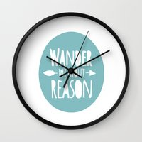 wander Wall Clocks featuring Wander by Zen and Chic