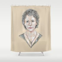 melissa smith Shower Curtains featuring Melissa by Jeanzi