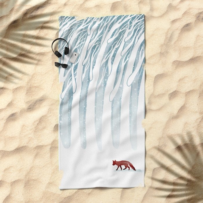 Winter Storm Beach Towel
