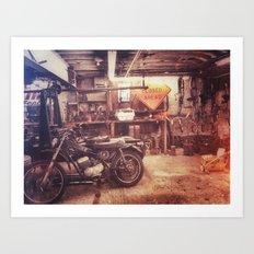 Basement Bike Art Print