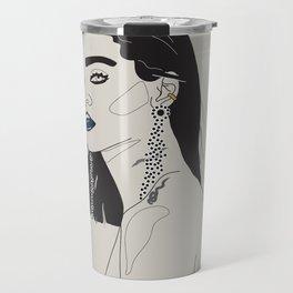 Rihanna blue Travel Mug
